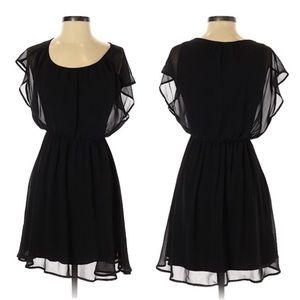 Lush • Black Ruffle Sleeve Dress